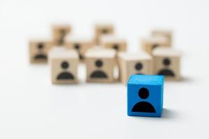 leadership-concept-using-blue-people-icon-cube-UPENZLA